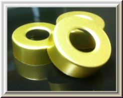 20mm pre-hole punched gold
